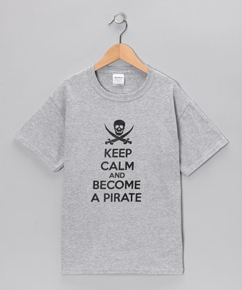 Gray 'Keep Calm and Become a Pirate' Tee - Kids & Adult