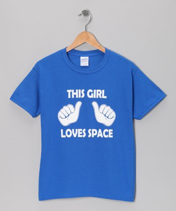 Royal 'This Girl Loves Space' Tee - Kids & Adults