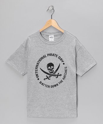 Heather Gray 'Pirate Day' Tee - Kids & Adult