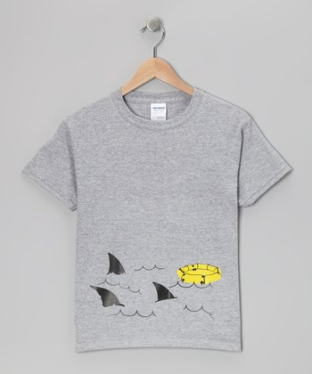 Heather Gray Shark Week Raft Tee - Kids & Adult