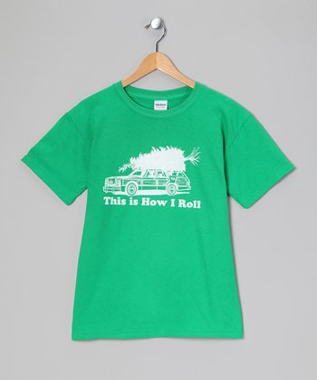 Crazy Dog Green 'How I Roll' Family Vacation Tee - Toddler & Kids