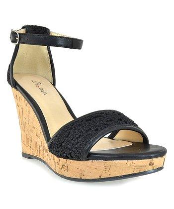 Shoe Republic LA Black Sephora Wedge Sandal