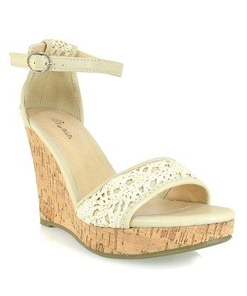 Shoe Republic LA Nude Sephora Wedge Sandal