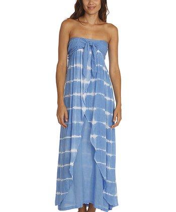 Santiki Blue Stripe Tori Maxi Dress