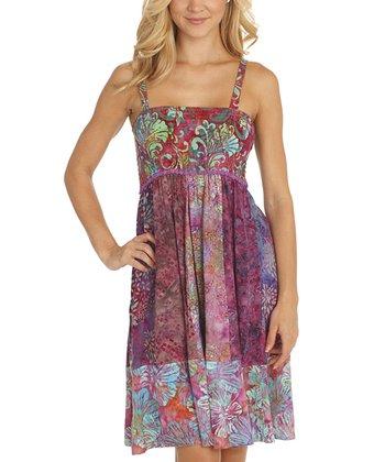 Santiki Dreamy Lime Smocked Ravea Sleeveless Dress
