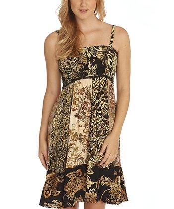 Santiki Dreamy Black Smocked Ravea Sleeveless Dress