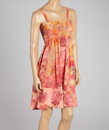 Santiki Pink & Yellow Floral Ravea Sleeveless Dress