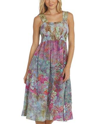 Santiki Lana Purple Floral Payton Midi Dress