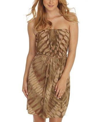 Santiki Dark Alligator Tina Strapless Dress