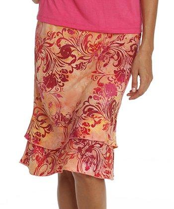 Santiki Dreamy Orange Ruffle Skirt