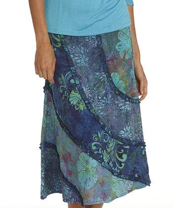 Santiki Georgia Blue Rachel A-Line Skirt