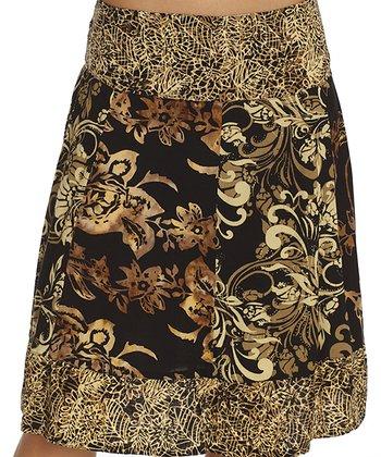 Santiki Hawaii Black Mel A-Line Skirt