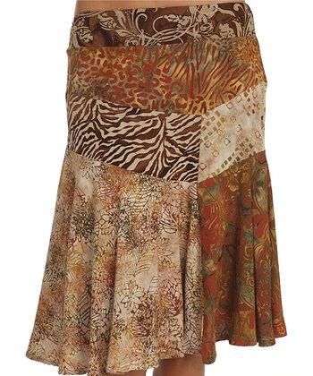 Santiki Dreamy Brown Isadora Trumpet Skirt