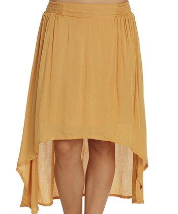 Santiki Gold Sheer Carson Hi-Low Skirt