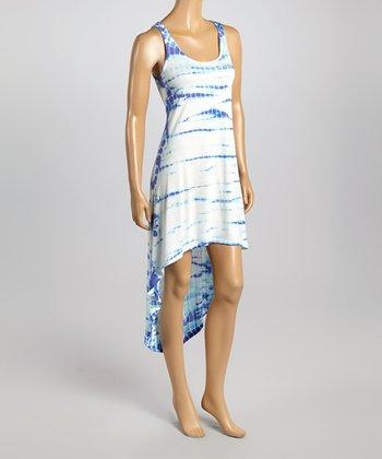 Raviya Periwinkle Sublime Hi-Low Dress