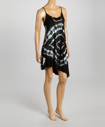 Raviya Black Tie-Dye Sleeveless Dress