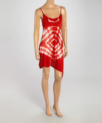 Raviya Coral Tie-Dye Sleeveless Dress