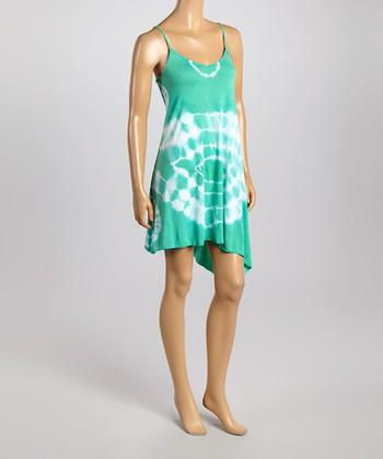 Raviya Seafoam Tie-Dye Sleeveless Dress