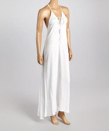 Raviya White Racerback Dress