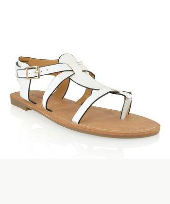 Shoe Republic LA White Vivo Sandal