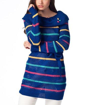 Saxe Stripe Wool-Blend Sweater Tunic