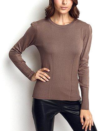 Vizon Wool-Blend Crewneck Sweater