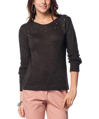 Smoked Dorsal Decolette Wool-Blend Sweater