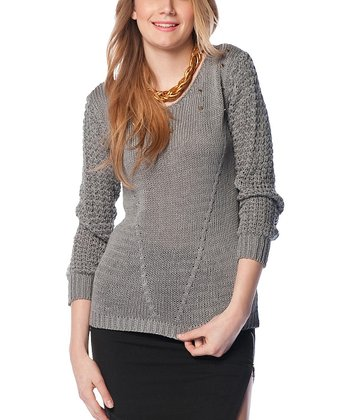 Gray Dorsal Decolette Wool-Blend Sweater