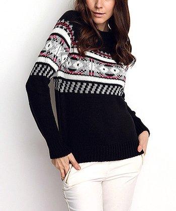 Black & White Wool-Blend Sweater