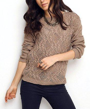 Vizon Crochet Wool-Blend Sweater