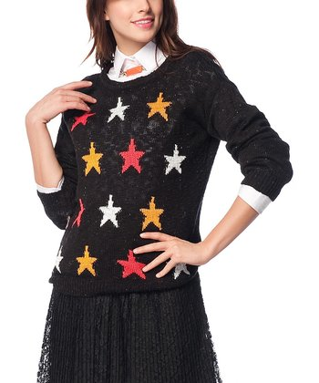 Black Star Wool-Blend Sweater