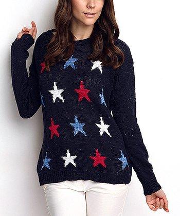 Navy Star Wool-Blend Sweater