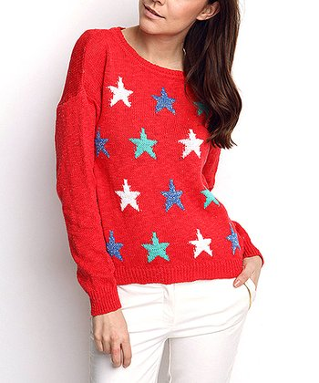 Red Star Wool-Blend Sweater