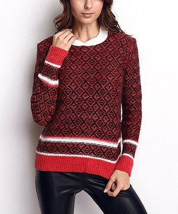 Black Hooded Wool-Blend Sweater