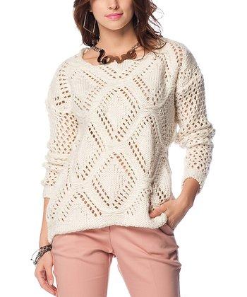 Bone Diamond Glitter Wool-Blend Sweater