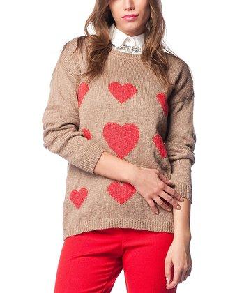 Vizon Heart Wool-Blend Sweater