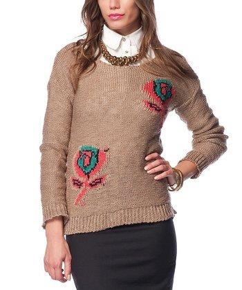 Vizon Flower Wool-Blend Sweater