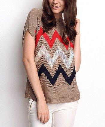 Vizon Zigzag Wool-Blend Dolman Sweater