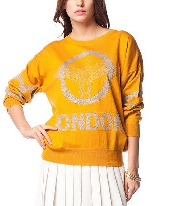 Mustard & Gray Eagle Wool-Blend Sweater