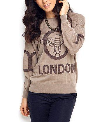 Vizon & Brown Eagle Wool-Blend Sweater