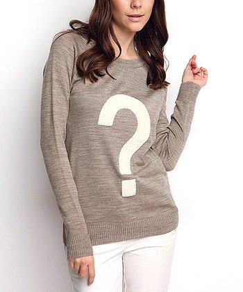 Vizon Question Mark Keyhole Wool-Blend Sweater