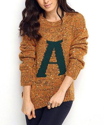 Mustard 'A' Wool-Blend Sweater