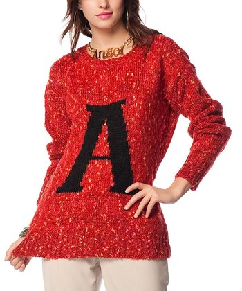 Coral 'A' Wool-Blend Sweater