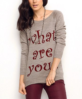 Vizon 'What Are You?' Wool-Blend Sweater