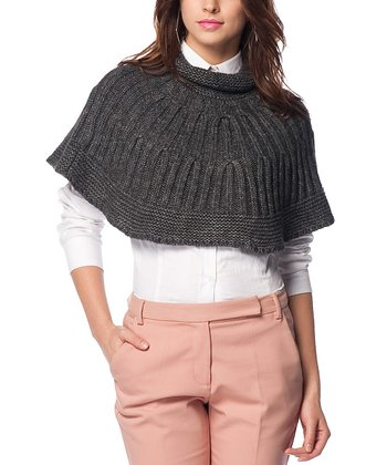 Smoked Wool-Blend Capelet