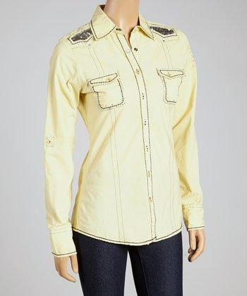 Yellow Parcen Button-Up - Women