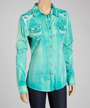 Green Tighten II Button-Up - Women