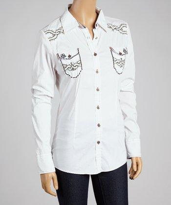 White Tighten II Button-Up - Women
