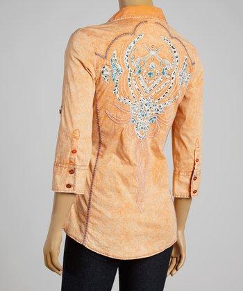 Orange Foundation Button-Up - Women