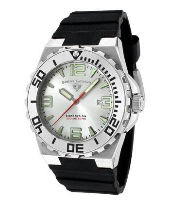 Silver & Black Expedition Watch - Men